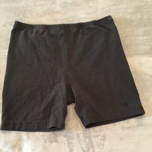 Black work out shorts